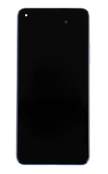LCD Display + Dotyková Deska + Přední Kryt pro Xiaomi Mi 11 Lite 4G Blue (Service Pack)