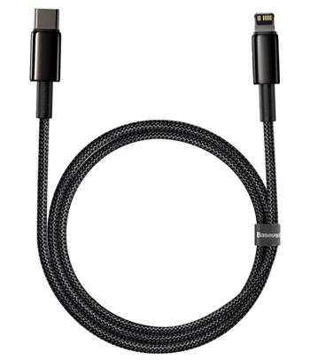 Baseus CATLWJ-A01 Tungsten Gold Fast Charge Kabel USB-C to Lightning  20W 2m Black