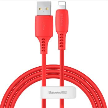 Baseus CALDC-09 Colorful Lightning USB Cable 2.4A 1.2m Red