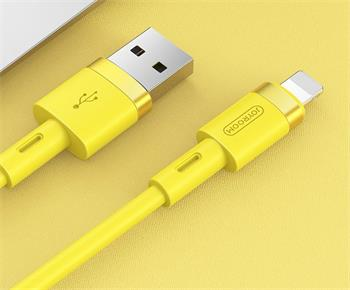 Joyroom S-1224N2 Silicone Lightning Data Cable 1.2m Yellow
