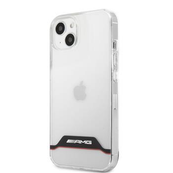 AMHCP13STCBR AMG PC/TPU Red Stripes Zadní Kryt pro iPhone 13 Mini Transparent
