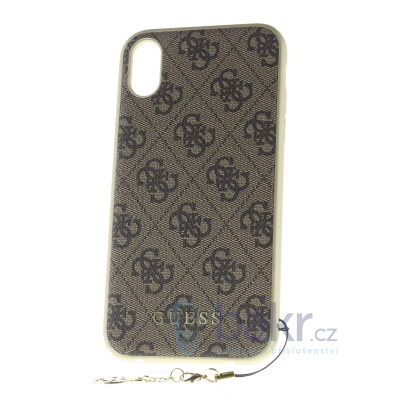 GUHCI61GF4GBR Guess Charms Hard Case 4G Brown for iPhone XR