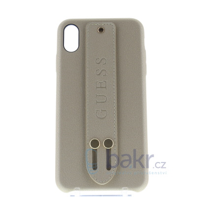 GUHCI65SBSBE Guess Saffiano Strap Case for iPhone XS Max Beige