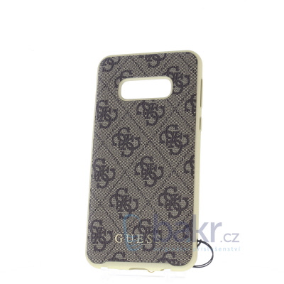 GUHCS10LGF4GBR Guess Charms Hard Case 4G Brown for Samsung